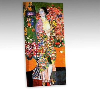 Gustav Klimt The Dancer 16x8 Inch Framed Canvas Modern Wall Art Picture Print