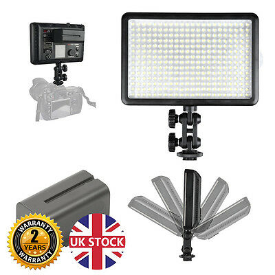 LED308D Hot-Shoe Mountable LED Video Light with NP-F750 Battery
