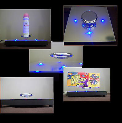 retail magnetic levitation display shoes shop counter cabinet acrylic fittings