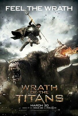 WRATH OF THE TITANS movie poster DS 27x40 one-sheet Sam Worthington film