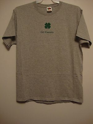 Starbucks ~ GO GREEN ~ Gray T-Shirt With Shamrock ~ Sz.L