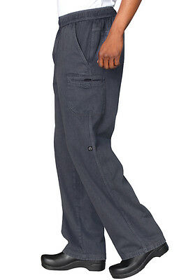 CHEF WORK 100% COTTON ENZYME UTILITY MODERN FIT CARGO PANTS UPEW
