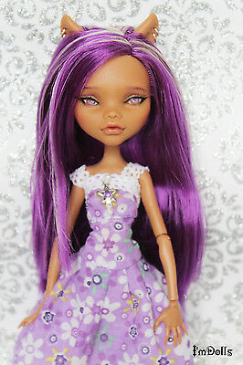 "OOAK Monster High Clawdeen wolf custom ""First spring flower"" Repaint by I'mDolls"
