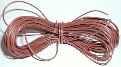 Model Railway Peco or Hornby Point Motor etc Wire 1 x 5m Roll 7//0.2mm 1.4A Grey