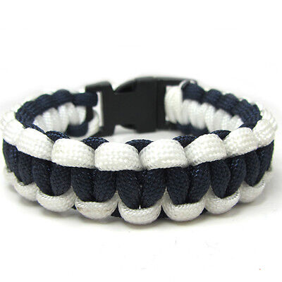 Hot Paracord Bracelet Parachute Rope Wristband Survival Hiking Climbing Navy-01