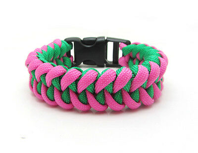 1X Paracord Bracelet Parachute Rope Wristband Survival Hiking Climbing GH037