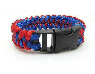 1X Paracord Bracelet Parachute Rope Wristband Survival Hiking Climbing GH036