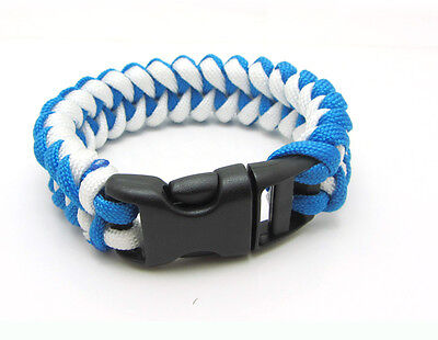 1X Paracord Bracelet Parachute Rope Wristband Survival Hiking Climbing GH033