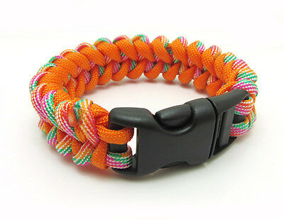 1X Paracord Bracelet Parachute Rope Wristband Survival Hiking Climbing GH028
