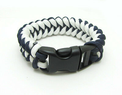 1X Paracord Bracelet Parachute Rope Wristband Survival Hiking Climbing GH026