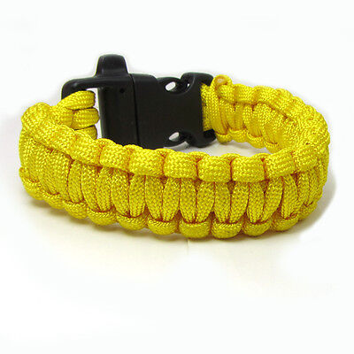 Hot Paracord Bracelet Parachute Rope Wristband Survival Hiking Climbing GH0025