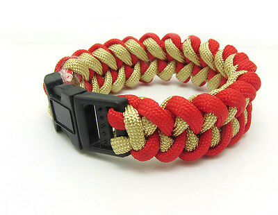 1X Paracord Bracelet Parachute Rope Wristband Survival Hiking Climbing GH021
