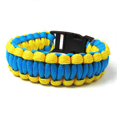 Hot Paracord Bracelet Parachute Rope Wristband Survival Hiking Climbing GH0024