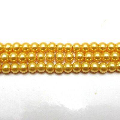 New 3MM 150pcs Charm Round  Beads Glass Spacer Pearls Gold  Color