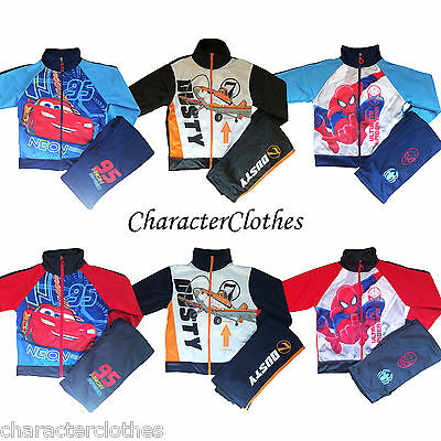 Boys Character SPIDERMAN/ CARS/ PLANES Tracksuit Jogging Set Suit Outfit Age 1-6