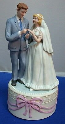 Bride and Groom musical figurine Norman Rockwell