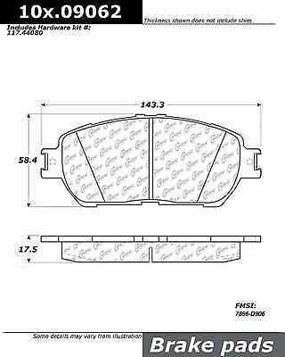 Disc Brake Pad-Posi-Quiet Extended Wear w/Shims & HrdWr Front fits 05-14 Tacoma