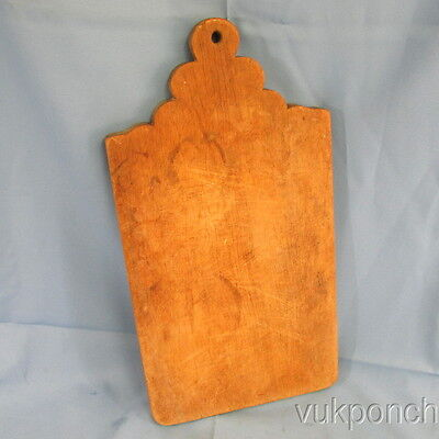 "Antique Wood Tombstone Dough Bread Cutting Board Primitive Rustic Early 19"" Long"