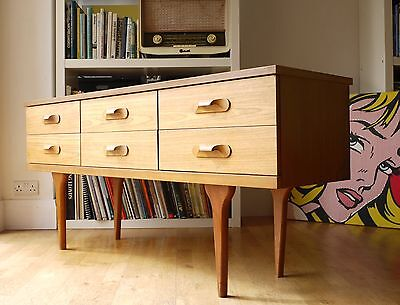 Danish style teak sideboard, chest of drawers. Retro vintage 60s 70s