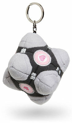 PORTAL 2 ORIGINAL Weighted Companion Cube Plush Key Chain