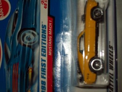 1998 First Edition from Hot Wheels Mustang Mach 1  1/64