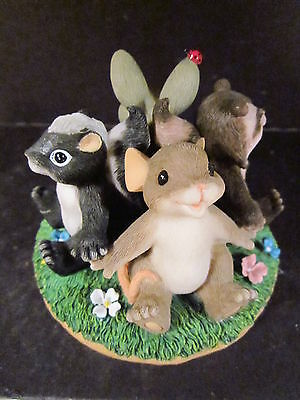 Charming Tails CIRCLE OF FRIENDS 98/324 Canadian Ltd Ed Mouse Skunk Raccoon