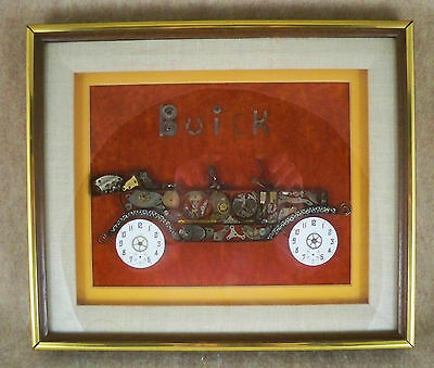 GIRARD ~ Watch Part Picture Car Automobile Buick Original Metal Collectible Art