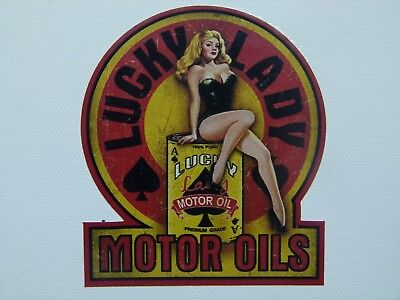"Oldschool Pin up Aufkleber ""Lucky Lady"" Rockabilly 50th Sticker Auto & Biker USA"