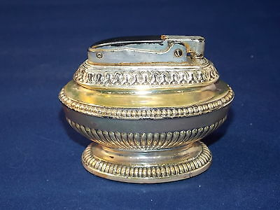 Vintage Ronson Queen Anne Silverplate Table Cigarette Cigar Lighter