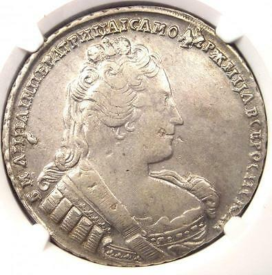 1733 Russia Anna Rouble (1R Coin, KM-192.2) - Certified NGC XF40 (EF40)