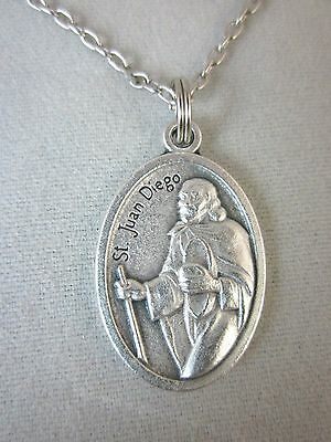 d2be9231202 St Juan Diego / Our Lady of Guadalupe Medal Italy Necklace 20