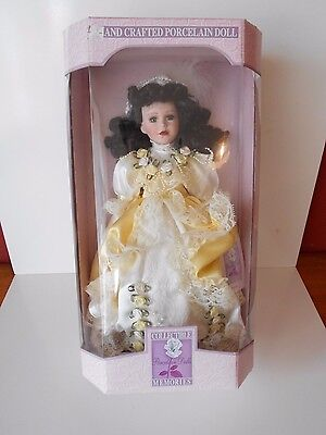 """Collectible Memories Hand Crafted Porcelain Doll """"Deborah"""" 17''"""