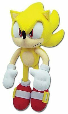 """*NEW* Sonic The Hedgehog: Super Sonic 12"""" Plush by GE Animation"""