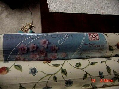 "SATIN COLLECTION WALLPAPER BY AS CREATION 21"" X 11 YD. VG 6 ROLLS"