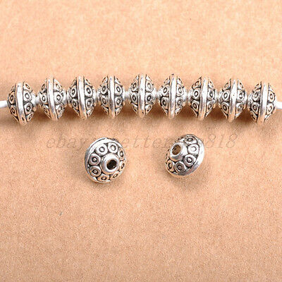 FREE SHIP 30pcs Tibetan Silver Charms Spacer Beads 6X4MM (hole1.8-2MM) B784
