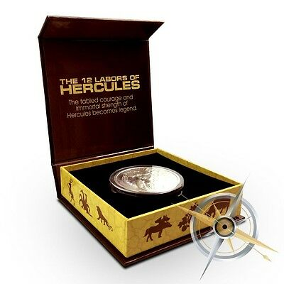2015 The 12 Labors Of Hercules |  Proof 5 oz .999 Silver Round-ONLY 500 COINS!