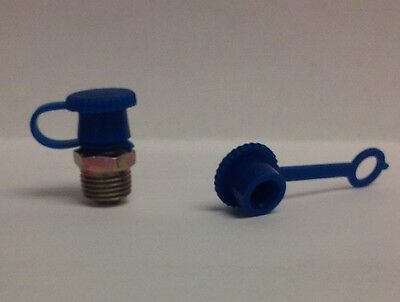 Dust Caps for Grease Zerk Nipple Fitting 25 Pieces Blue