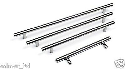 T BAR Handles Kitchen & Bedroom Cabinet Door Handles 96mm to 640mm sizes