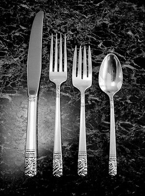 4pc PLACE SETTINGS CASA GRANDE BY ONEIDA COMMUNITY STERLING SILVER 9 AVAILABLE