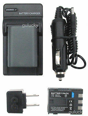 1500mah 2XBattery + Charger For Canon PowerShot G7 PowerShot G9 Digital Camera