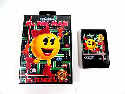 Ms. Pac-man For Sega Genesis Box And Game Only No Booklet Used