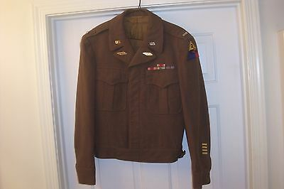 Original WW2 U.S. Army 2nd Armored Division 1st LT Officers Ike Jacket