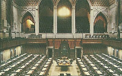 VINTAGE OLD POSTCARD UNUSED OTTAWA ONTARIO CANADA HOUSE OF COMMONS CHAMBER
