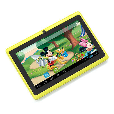 """Yellow 7"""" Google Android 4.2 Tablet PC MID for Kids Children Dual Core USA Stock"""