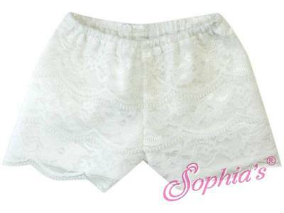 "White Lace Shorts fit 18"" American Girl Doll"
