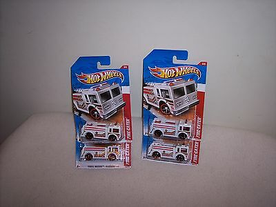 HOT WHEELS -  FIRE-EATER - LOT OF 4 - 2010 - VERY NICE CARDS -  NEW