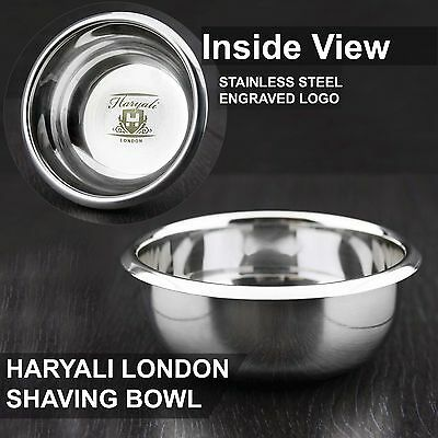 High Grade German Stainless Steel Polished Shaving Soap Bowl NEW