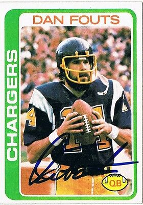 1978 Topps Signed Auto Card: DAN FOUTS #499 CHARGERS HOF 1993