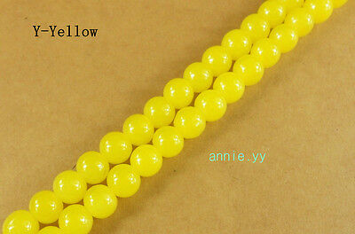 200Pcs 4mm Yellow Glass Pearl Spacer Loose Beads DIY Jewelry