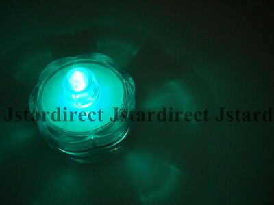 48 Green LED Submersible Wedding Underwater Bead Decoration Tea Light